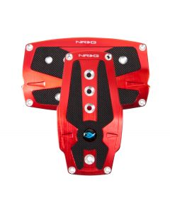 Brushed Red Aluminum Sport Pedal w/ Black Rubber Inserts AUTO