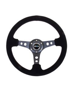 350mm Sport Reinforced Deep Dish Steering Wheel - Suede