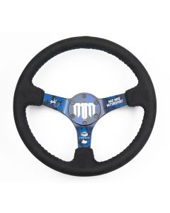 Mad Mike Signature Alcantara w/Blue Stitching Steering Wheel