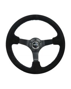 "350mm Suede w/Blue Baseball Stitching ""ODI"" Aurimas Bakchis Inspired Steering Wheel"