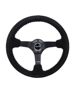 "350mm Suede w/Red Baseball Stitching ""ODI"" Aurimas Bakchis Inspired Steering Wheel"