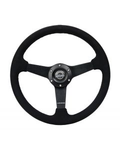 350mm Alcantara w/Black Stitching Deep Dish Steering Wheel