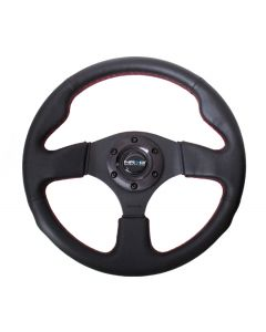 320mm Suede w/Red Stitching Steering Wheel